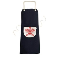 Kite Chinese Traditional Culture Paper Cutting Cooking Kitchen Black Bib Aprons With Pocket for Women Men Chef Gifts - intl