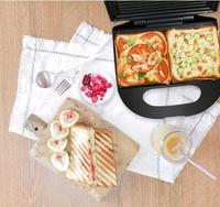 面包機 三明治機帕尼尼機早餐機三文治機熱壓吐司機家用多功烤面包機 全館85折起 JD