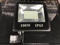 紅外線LED感應燈 100W白光感應燈 投光燈 超亮貼片式LED投光燈 人體感應燈 200LED泛光燈照明燈