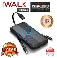 *Xmas Sale* iWalk Scorpion Air 8000mah Wireless Charging Powerbank UBA8000 Qi 1 Year Warranty* Usual Retail Price $89*
