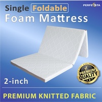 Foldable Mattress - Single size - Premium Knitted - Removable Cover - 3 Fold Mattress - 5cm thickness