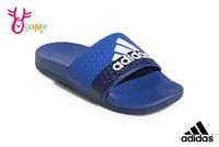 adidas ADILETTE CLOUDFOAM 成人女款 中大童 拖鞋 極舒適軟Q 運動 紓壓拖鞋 Q9398#藍色◆OSOME奧森鞋業