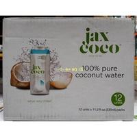 【小如的店】COSTCO好市多代購~JAX COCO 100%椰子水/椰子汁(330ml*12瓶)