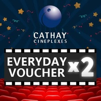 [Cathay Cineplexes] EVERYDAY Movie Voucher/2*Qty/Couple/Bundle/Package/Deal/Promotion/Movie Combo/Movie Package/Movie Voucher/Movie Ticket Voucher/Gift Voucher/E-Voucher/Cinema/Movie Ticket Discount (Email Delivery)