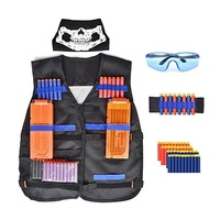 Nerf Tactical Equipment Elite Kit for Nerf Gun Accessories Tactical Suit with Bullet Clip Mask for E