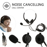 Gazechimp Telephone Headset RJ9 Noise Cancelling with Mic Over Head for Call Center