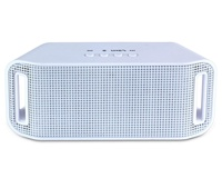 LingTud Portable LED Wireless Bluetooth Speaker for Smartphone and Tablet, White