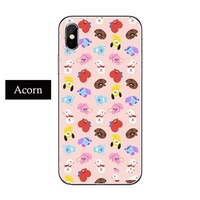 Trendy Anime Kpop BTS BT21 Dolls iphone Universal TPU Phone Case For Apple iPhone 8 7 6 6S Plus X XS