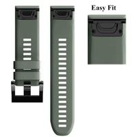 26MM Quick Release Easy Fit Watch band Wrist Strap for Garmin Fenix 5X Garmin Fenix 3 Garmin Fenix 3 HR Garmin D2 Charlie Garmin Descent Mk1