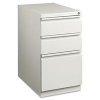 Lorell LLR49528 Mobile File Pedestal, Light Gray