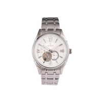 VANDER Business Fashion Glass Quartz Watch High-End Men's Watch Mechanical Watch (Silver+white) - intl