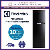 *New Model* Electrolux ETB3400H-H Top Mount 2 Door Fridge (320L) (Black)