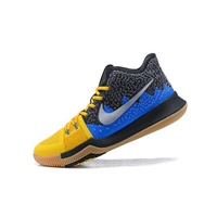 【Huiti】Nike Kyrie Irving 3 What The Yellow Blue Shoes