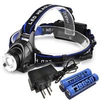 爆亮T6強光LED頭燈 CREE-T6 燈泡(可伸縮 雙鋰電 T6 超強光 頭燈 釣魚頭燈)