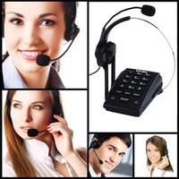 Promotion!!! Call Center Dialpad Headset Telephone with PC Recording Function RJ9 headset Volume and Mute Switch for microphone
