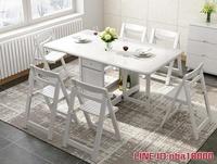 折疊餐桌餐桌飯桌實木餐桌椅組合收納可折疊餐桌小戶型伸縮餐桌家用- MKS摩可美家