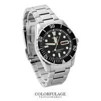 盾牌精工五號SEIKO手錶 23石自動上鍊機械錶防水100米 柒彩年代【NE1113】附贈禮盒+提袋