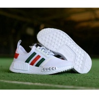 【ready stock】original Adidas nmd x gucci white black bee women/men running shoes