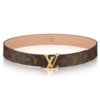 Mens Louis Vuitton LV Initiales Reversible 40mm Belts Monogram/Calfskin/Damier Ebene