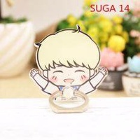 BTS Bangtan Boys Case 360 Degree Rotation SUGA Phone Ring Finger Buckle Stand Holder Cell Mobile Phone Stand Accessories Rings ZHK