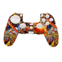 Camouflage Army Soft Silicone Gel Skin Protective Cover Case for PlayStation 4 PS4 Game Controller