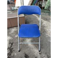 東鼎二手家具 寶藍折疊椅*折疊椅*大學椅*鐵椅*書桌椅*補習班課桌椅*折合椅*洽談椅*辦公椅*電腦椅