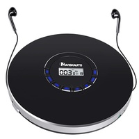 NAVISKAUTO Rechargeable Portable CD Player, Small CD Player for Car, Compact Personal CD Player with