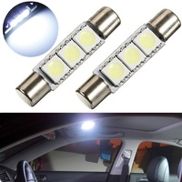 樂購 汽車LED 圓頭閱讀燈T6-5050-3SMD-28MM 平頭雙尖 車頂燈 雙尖燈婷婷