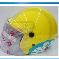 KK 857 K-857 DO-5 多啦A夢 小叮噹 黃色 卡通大兒童安全帽 半罩《裕翔》