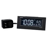 Seiko clock alarm clock radio wave AC type digital black DL209K SEIKO