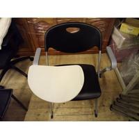 【土城二手市集】可疊放~辦公椅 黑色大學椅 洽談桌椅 高級強化塑鋼椅/補習班椅/課桌椅(補教專用)非廉價塑膠椅
