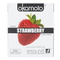 Okamoto Strawberry (12 กล่อง 24 ชิ้น )