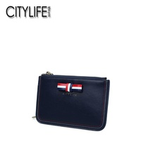 The living Ms. CITYLIFE's purse new style of bowknot in city short style of wallet hand carries zero purses