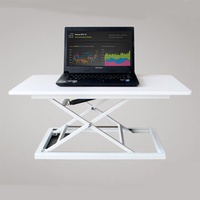 COMNENIR T10 Adjustable Height Sit Stand Desk Simple Modern Office Desk Riser Foldable Laptop Desk Notebook Stand