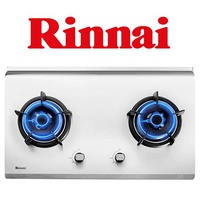 RINNAI RB-72S 2 BURNER HYPER FLAME STAINLESS STEEL BUILT-IN HOB