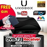 ★IMDA approved★  UKOBOX DVB-T2 Receiver / Best Digital TV Tuner + over 100channels WebTV function