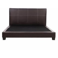 Modern Mintz Queen Synthetic Leather Bed Frame(Queen)