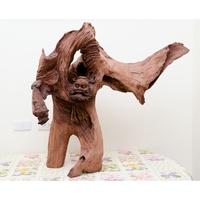 鍾馗古董木雕