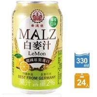 崇德發 白麥汁(檸檬口味)-330ml x 24罐 宅配免運
