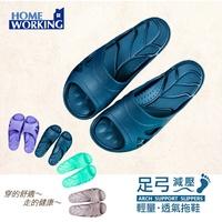 【足弓拖鞋】減壓.室內拖鞋-藍色《四雙特惠1500》