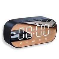 Hongjin HJ315 鏡面鬧鐘 多功能鬧鐘 藍芽音箱 無線藍芽音響 便攜音響 鬧鐘 電子鬧鐘