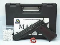 """ปืนบีบีกันอัดแกส Bell 723 (M1911A1) สีดำ พร้อมกล่องใส่ปืน ฟรี"""" ลูกเซรามิค 300 นัด"""