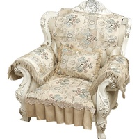 重磅日韓款歐式沙發坐墊蕾絲坐椅墊雙貴妃沙發墊套罩組合客廳布藝靠背巾防滑