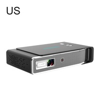 TOUMEI V5 3800 Lumens Mini Portable 3D 4K Full HD DLP Pocket Projector Smart Android WIFI Video Home Cinema Projector Dual Band WiFi Auto Keystone Correction 1G 16G Dolby sound Chinese / English
