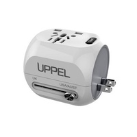 M168-9 QC3.0 Fast Charge Dual USB Travel Conversion Plug Multi-function Conversion Socket Travel Adapter