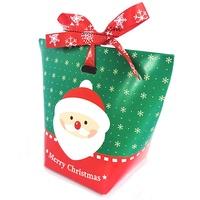 [現貨]聖誕節滿雪花紅綠雙色老人雪人麋鹿水餃包裝紙盒 餅乾盒 糖果盒 禮物盒【XM0322】《Jami Honey》