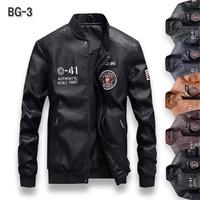 👉門市可試穿👈 新款精品 美軍飛行夾克(黑) BG-3 皮衣 外套 立領 PU皮革 修身 舒適 保暖 時尚 百搭
