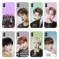 Colorful Fashion Korean BTS Kpop Print Soft TPU Phone Case for IPhone5S SE 6S 6Plus 7plus 8plus X XS XR XS MAX and Samsung S7 S8 S9