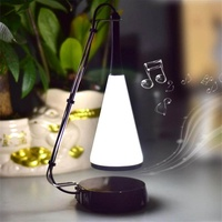 Music Desk Lamp LED Touch Lights Bedside Sound Lamp Charging USB Bluetooth Speaker Lighting 0-5W