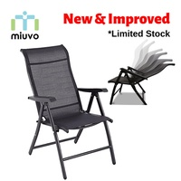 Foldable Recliner Chair / Foldable Relax Chair / outdoor chair (Steel / Adjustable Recline positions